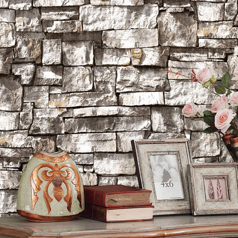 PVC Waterproof Wallpaper 3D Embossed Brick Stone Wall Papers For Walls 3D Living Room Cafe Restaurant Background Wall Home Decor english letters retro nostalgia art wallpaper pvc deep embossed waterproof durable wall papers home decor living room restaurant