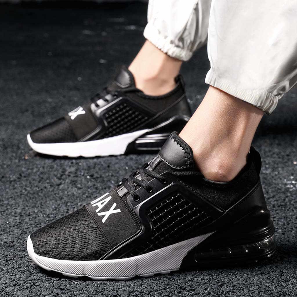 40 ^ erkek ayakkabı 2020 erkek büyük boy yüksek elastik hava yastığı alt Sneakers dokuma koşu ayakkabıları Platform spor ayakkabı Chaussure