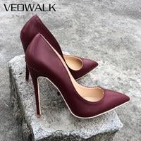 Veowalk High Heels Women Shoes Pumps Stilettos Shoes For Women High Heels 12CM/10CM Microfiber Wedding Shoes Customized Accept