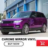 1.52x20 m/Roll Premium Estirable purple Mirror Chrome Vinilo Del Abrigo Del Coche que Envuelve la Película Del Cromo Cromo de Aluminio púrpura la Burbuja de aire Libre