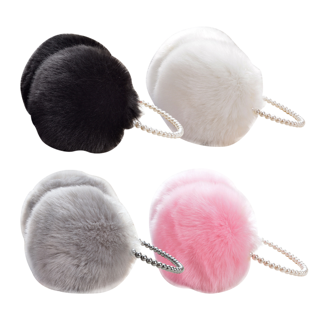 Charming Fashion Rabbit Fur Earmuffs Ear Muffs Ear Warmers Earmuffs Winter Outdoor Women Christmas Gifts