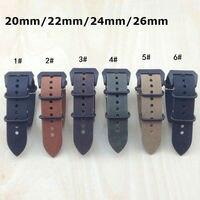 Retro Leather Watchbands 20MM 22MM 24MM 26MM CrazyHorse Hide Leather Watchbands For Panerai Calfskin Strap Fast