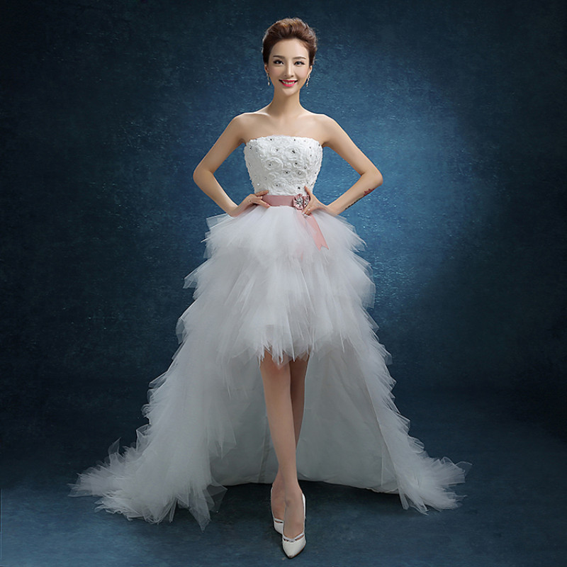 Tiered Wedding Gown: Elegent Wedding Dress 2019 Tiered Tulle Bridal Gown High