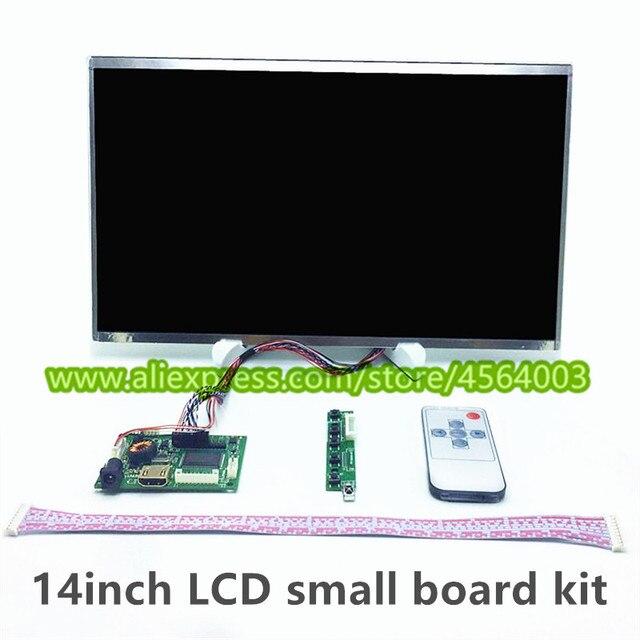 14 pulgadas 1366*768 TFT pantalla grande LVDS controlador LCD monitor HDMI pequeña placa de controlador de Audio VGA 2AV mini raspberry pi kit de