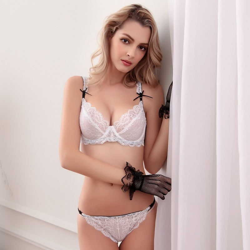 fabcad908710e invisible sexy lace bra hot sexy ladies s bra and panty set with beautiful  lace decoration and fancy embroidery-in Bra   Brief Sets from Underwear ...