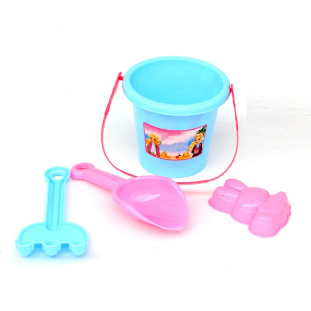 4PCS Plastic Sand Beach Toys For Kids Beach Castle Bucket Spade Shovel Rake Water Tools Toys Juguetes Playa Dropshipping
