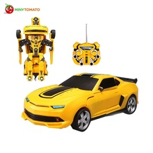 Free Shipping Racing Car Models Deformation Robot Transformation Remote Control RC Car Toys for Children Kids Gift TT661