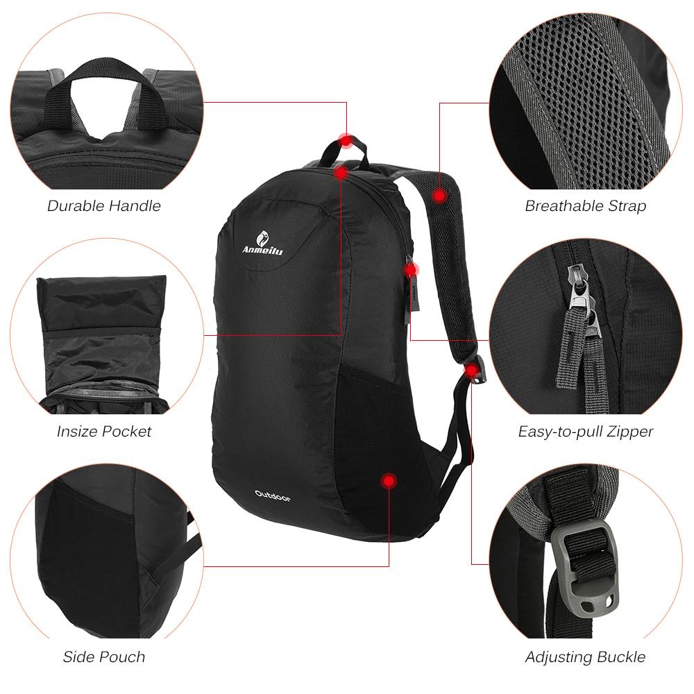 1fba2ff74dba 2019 ANMEILU 15L Foldable Backpack Waterproof Climbing Rucksack ...