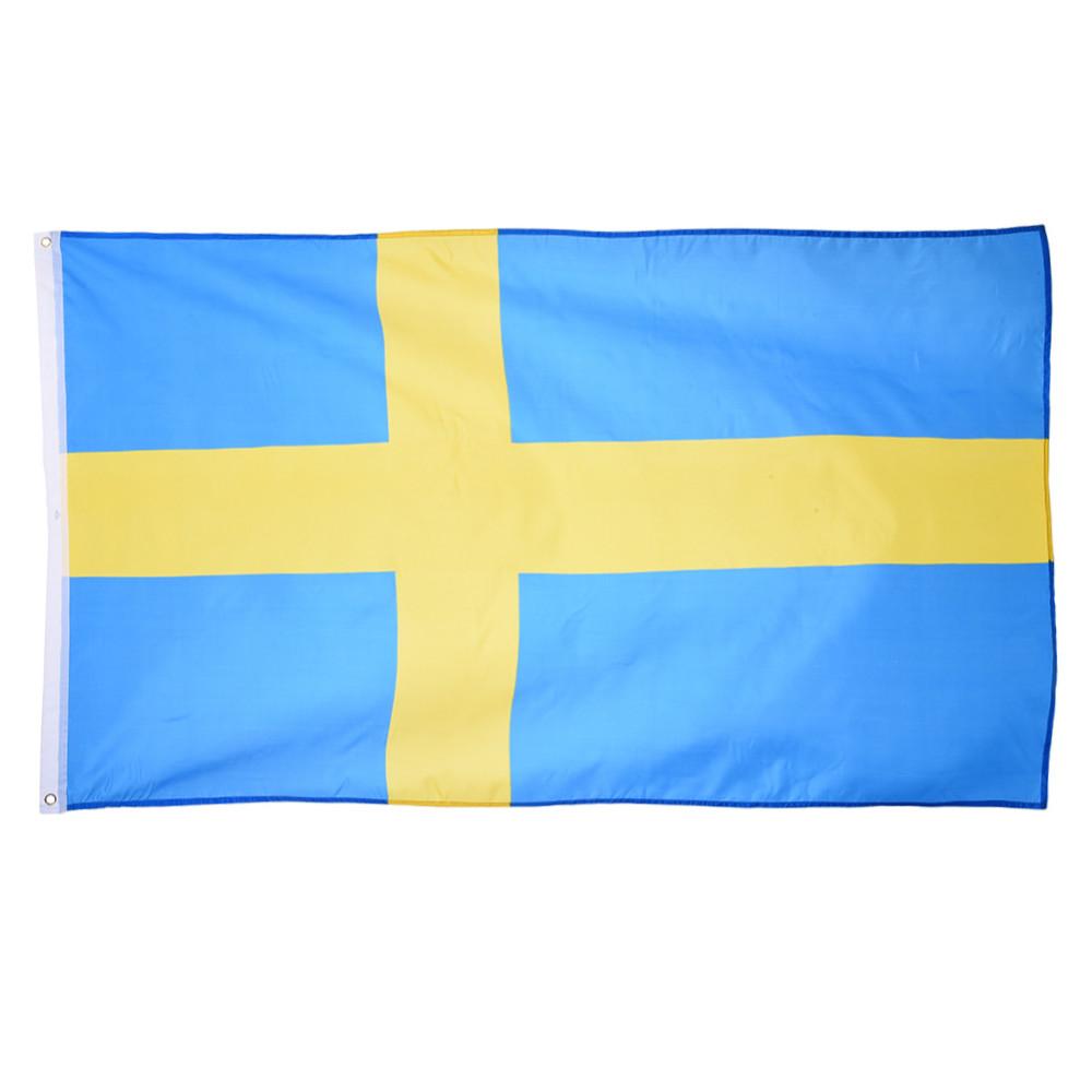 La Maison De La Suede bannière de drapeau de polyester de drapeau de la suède 90