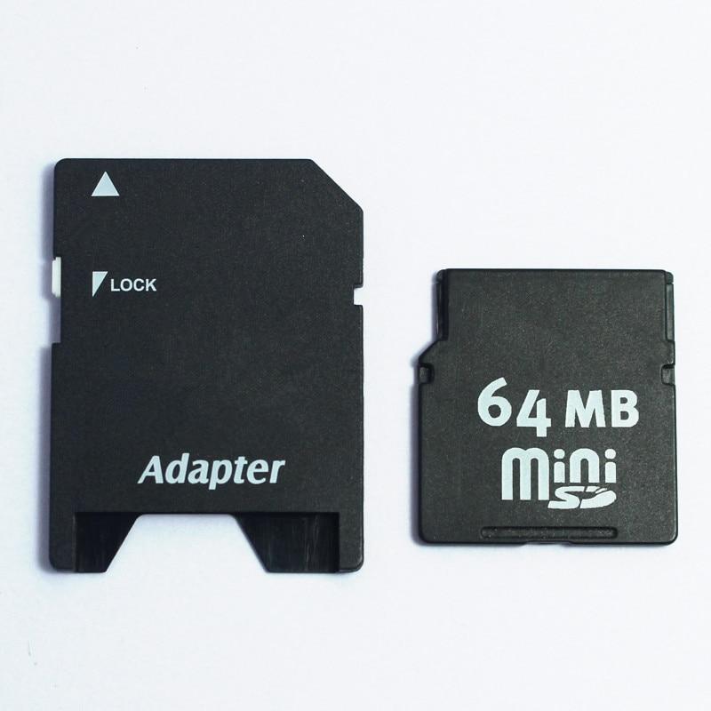 Small Capacity 32MB 64MB 128MB 256MB MINISD Card MINI SD Memory Card  With Free Card Adapter