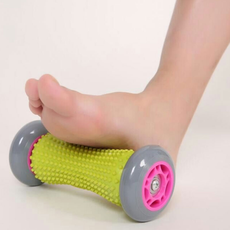 Foot Hand Massage Roller Trigger Point Deep Tissue Physical Therapy For Plantar Fasciitis Heel Foot Arch Pain Relief Fitness Hot 30cm 15cm electric vibration eva foam roller floating point fitness massage roller 3 speed adjustable for physical therapy