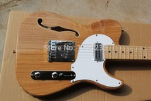 . Free shipping hot new Semi-hollow electric guitar models TL single F-hole wood color guitar