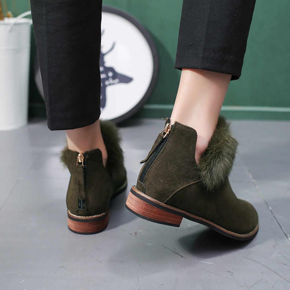 YOUYEDIAN Для женщин женские меховые ботильоны из флока; цельные полуботинки Martin со шнуровкой короткие ботинки челси; sapato feminino; большие размеры из джинсовой ткани vel # L5