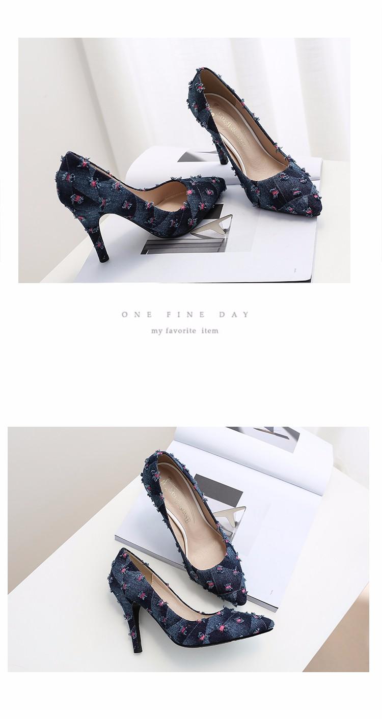 New arrival Denim Ladies Shoes pointed toe high heels Free Shipping! HTB166cSSpXXXXX2aXXXq6xXFXXXj