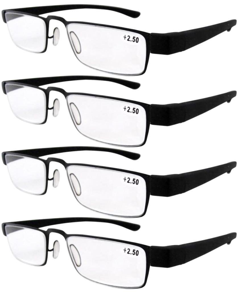 R11031 Eyekepper 4-pack Moda Plástico Óculos de Leitura + 1.0 1.5 2.0 2.5 a0fd6f3708