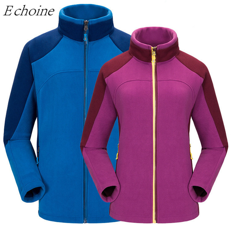 Echoine Men  Women Outdoor Windbreaker Windproof Breathable Warm Thick Polar Fleece