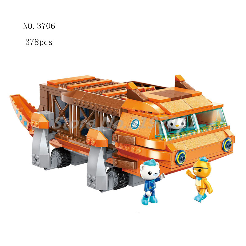 The Octonauts Building Blocks GUP G Mobile Speeders Launcher & Barnacles kwazii peso Educational Bricks Toys For Children