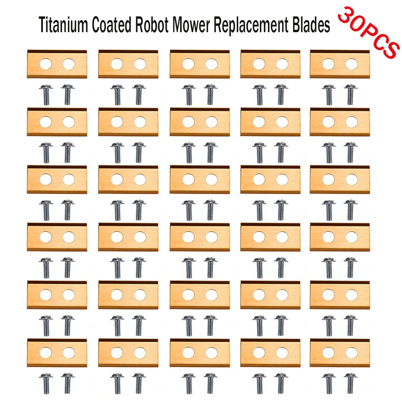 30X Titanium Coated Robot Mower Replacement Blades For WORX ROBOT LAWN MOWER