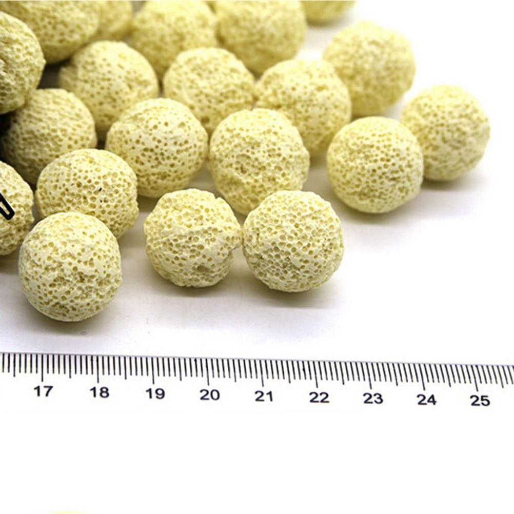 10pcs Ceramic Porous Bio Ball Filter Media Nitrifying Bacteria Buidling House Aquarium Accessories For Fish Tank Water Cleaning 2