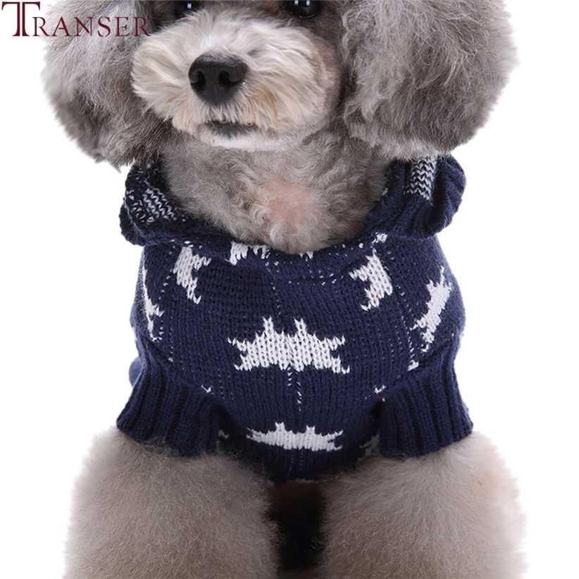 Недавно товар для животных звезда шаблон собак свитер вязаный худи для домашних собак пальто Одежда для щенков зимняя теплая одежда для маленьких собак 81113