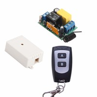 High Quality AC220V 10A RF Wireless Mini Switch Relay Receiver 2Button Remote Controllers Lighting LED Lamp