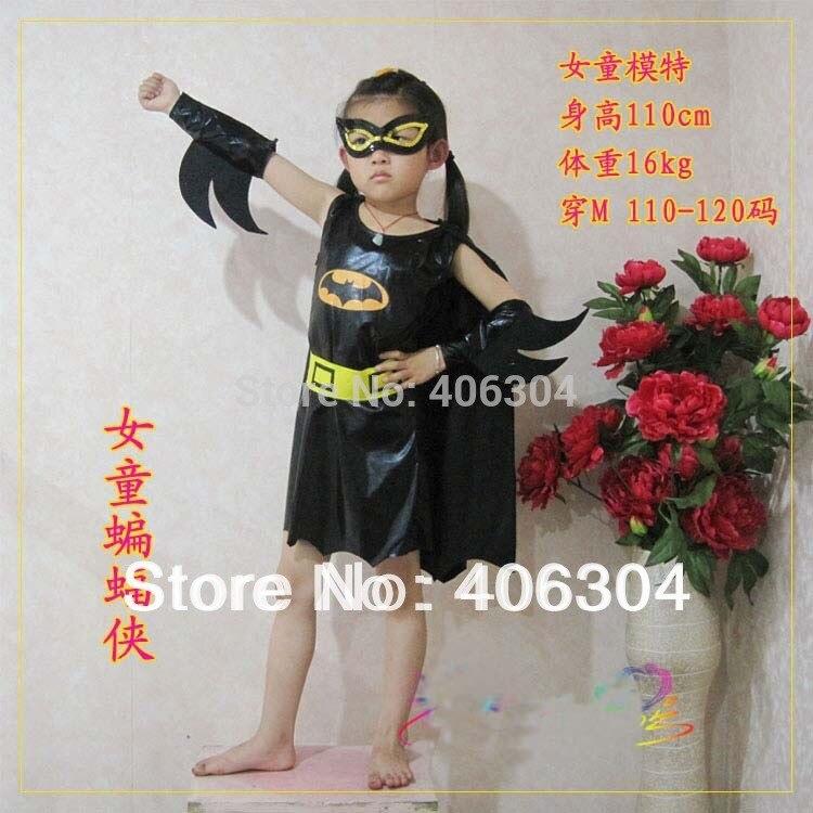 Free shippingchildren batman costume girl batman dress cape hand pads eyemask belt halloween party dress up costume for kid-in Girls Costumes from Novelty ... & Free shippingchildren batman costume girl batman dress cape hand ...