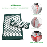 Massager Cushion Acupressure Mat Relieve Stress Pain Acupuncture Massage Pillow Spike Yoga Mat with Pillow Massage & Relaxation