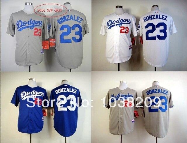 a5b34703f HOT Sale Los Angeles Dodgers Jersey  23 Adrian Gonzalez Jersey  White Blue Gray Baseball Jersey