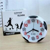 Креативный футбольный Настольный Будильник украшение футбольный мяч будильник настольные часы для спальни 2018 фанаты Кубка мира подарок