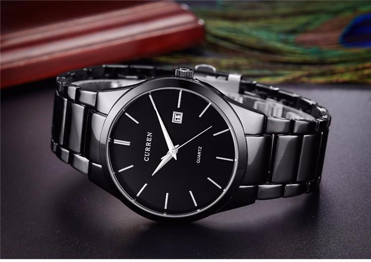 Curren 2016 Najlepsze Marki Biznesmenów Mężczyzna Luksusowy Zegarek Na Co Dzień Pełne stali Kalendarz zegarki Na Rękę zegarki kwarcowe relógio masculino 13