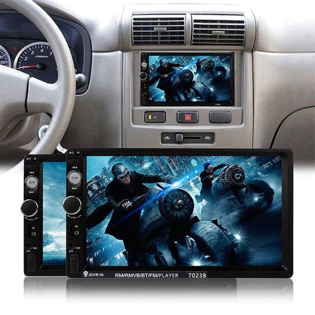 "Podofo Auto Radio 2 din voiture lecteur multimédia 7 ""écran tactile Autoradio 2din Support stéréo caméra de recul Mirrorlink Android 5"