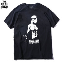 THE COOLMIND Casual Short Sleeve Darth Vader Bodyding Men T Shirt 100 Cotton O Neck Knitted