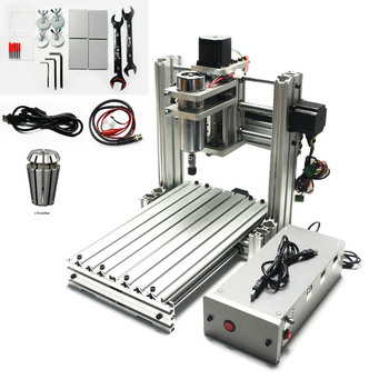 4 Axis USB Mini CNC Router Engraver CNC 3020 Machine Rotary Axis CNC3020 PCB Milling Machine for Woodworking Lathe 110V/220V 4 axis cnc 6040 z s80 engraver router milling lathe machine with rotary axis and 1 5kw spindle four axis cnc6040 for 3d cnc