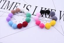 E645 2019 Fashion Christmas Gifts Winter Piercing Wedding Pearl Double Puffer Ball Earrings Jewelry girls earrings women