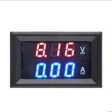 1 шт. постоянного тока 0-100 в 10 А Вольтметр Амперметр красный+ синий/красный+ красный светодиодный Усилитель Двойной Цифровой Вольтметр Манометр светодиодный дисплей