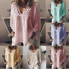 Plus Size Women Blouses 2019 Long Sleeve Gypsy Baggy Blouse Summer Top Casual Tunic Tops