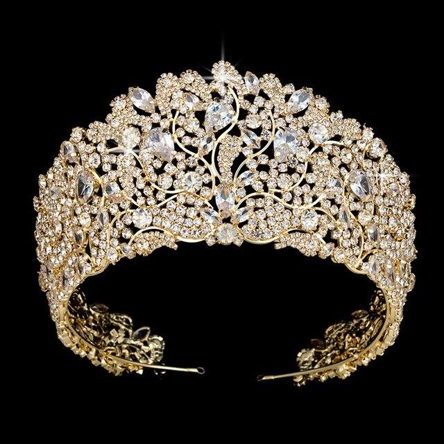 Hadiyana блестящая корона принцессы из страз диадема для женщин