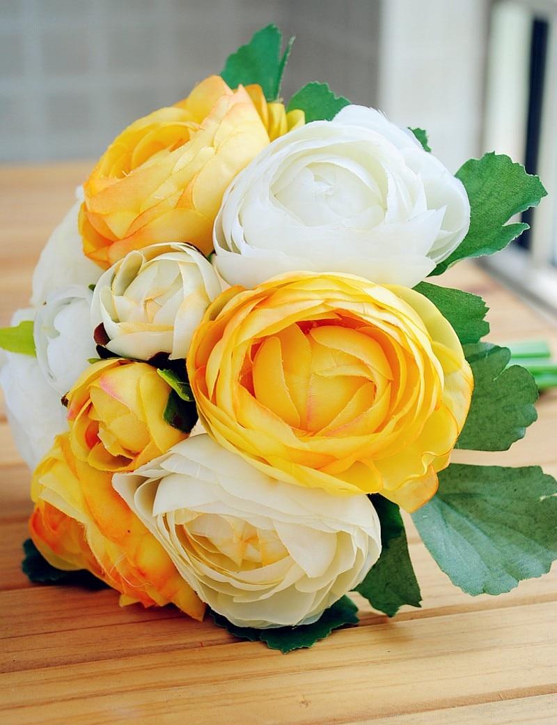 Bridal Accessory 3 Color Peony Wedding Bouquets Beautiful Wedding