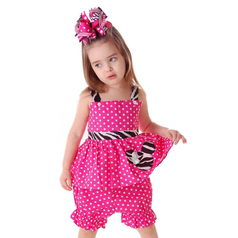Baby Girls Summer Clothing Sets Cartoon Mouse Kids Clothes Set Children Sleeveless Top+Bloomers Minnie Polka Dot Suits CF135 new fashion summer kids girls clothing sets cotton sleeveless polka dot strap girls jumpsuit clothes sets outfits children suits