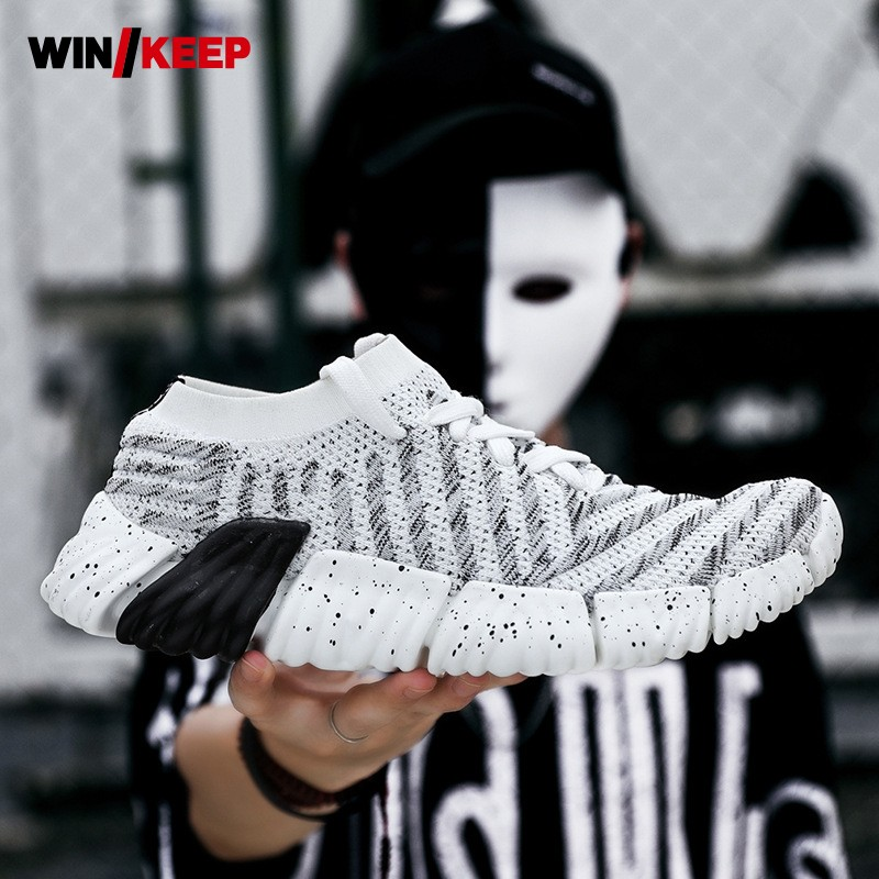 2019 Spring New Classic Socks Sneakers For Men Mesh Low Top Outdoor Walking Jogging Shoes Zapatillas Brand Sport Shoes Male Good For Energy And The Spleen Underwear & Sleepwears