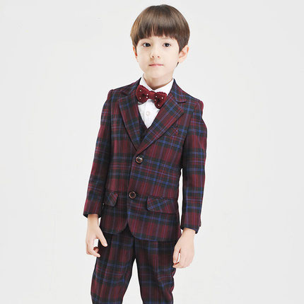 (Jacket+Pant+BowTie+Shirt+Vest) Boy Suits Flower girl Slim Fit Tuxedo Brand Fashion Bridegroon Dress Wedding lattice Suit Blazer household mutton slicing machine manual cut meat machine commercial planing machine meat grinder free shipping