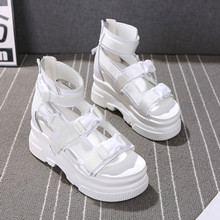 SWYIVY Summer White Shoes Sandals Woman Genuine Leather Wedg