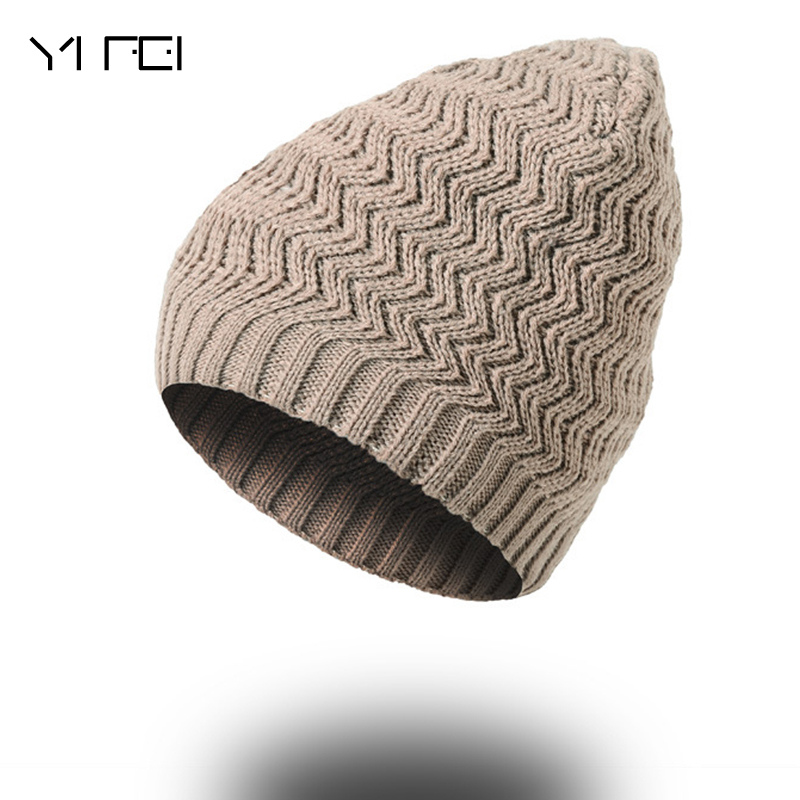 YIFEI Fashion Men Winter Hat For Women Skullies Beanies Brand Men Knitted Hat Cap Warm Brand Beanie Hat Hot Sales Wholesale free drop shipping 2017 newest europe hot sales fashion brand gt watch high quality men women gifts silicone sports wristwatch