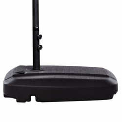 Giantex 60L Universal Offset sombrilla de Patio Base de plástico pesado llenado de agua arena rueda exterior muebles OP3510