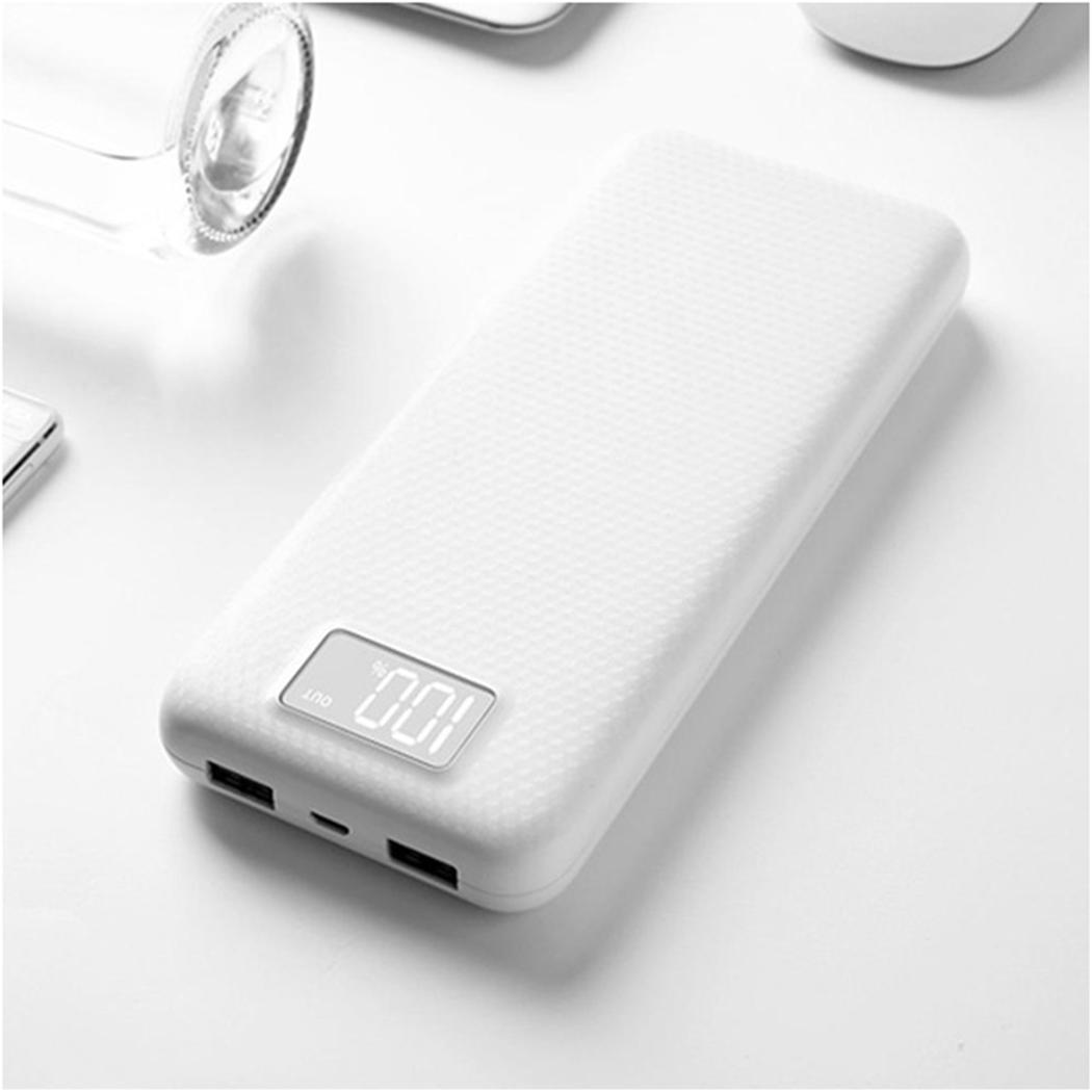 Don't Battery Display Power Bank Shell Dual USB Output Mobile Power Case Module DIY Kit External Battery Charger Box Housing