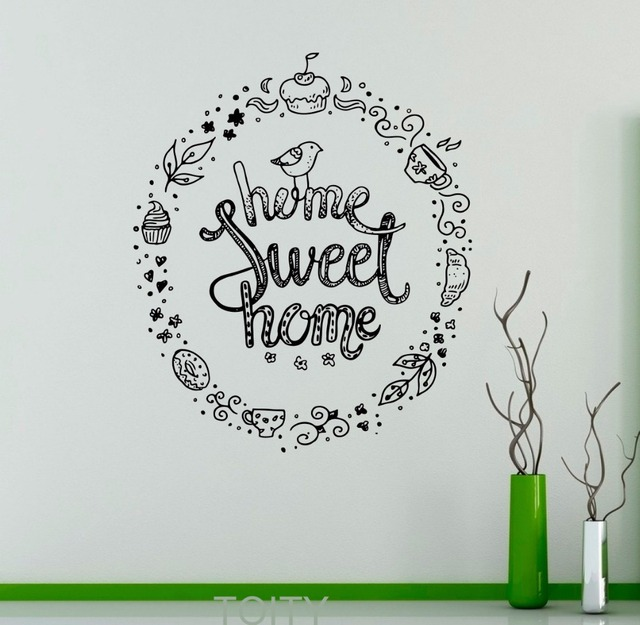 home sweet home wall decal quote sayings vinyl sticker nursery quote home interior cute decor mural