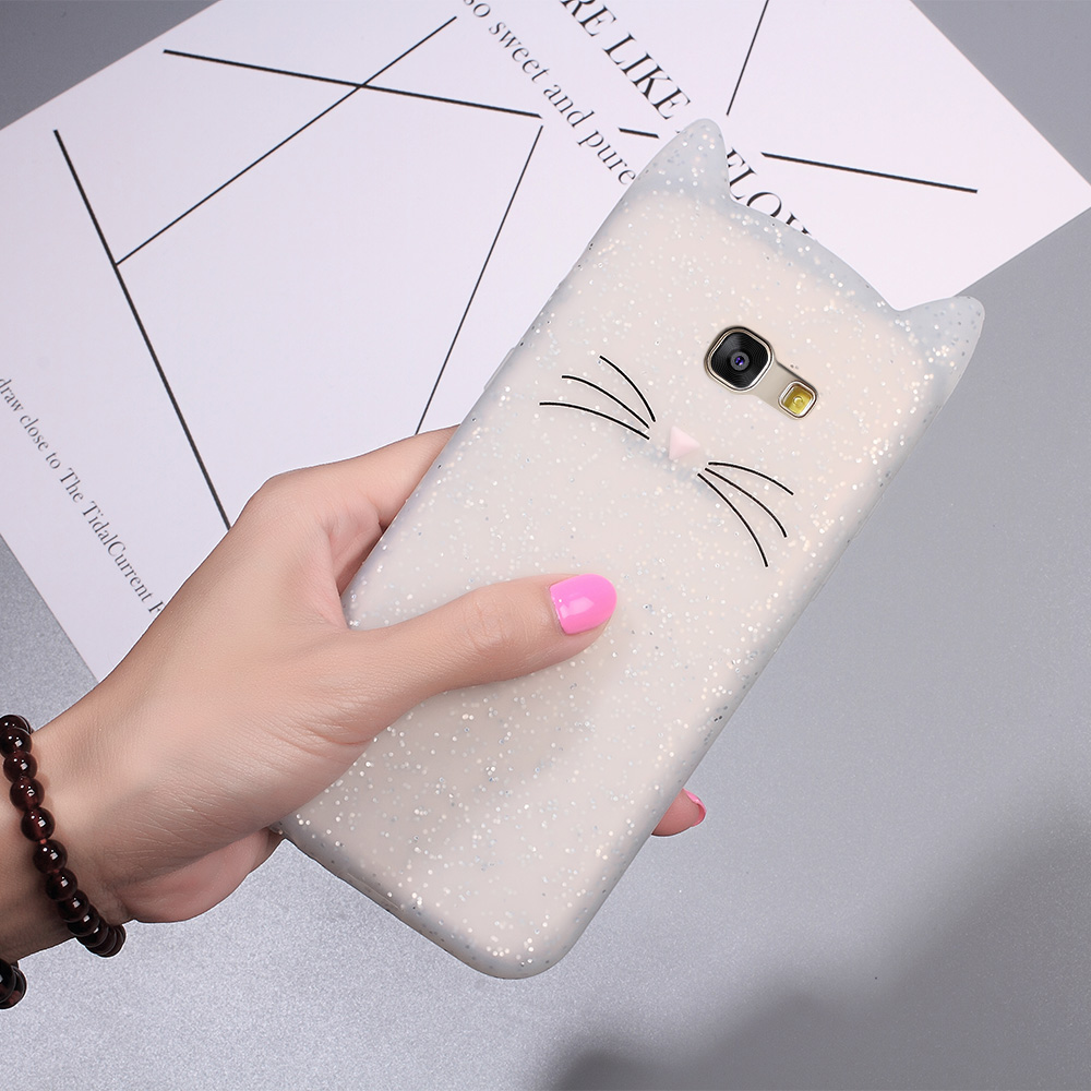 3d bearded cat inspired cases for samsung galaxy a5 a3 2017 2016. Black Bedroom Furniture Sets. Home Design Ideas