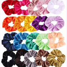 20 color mixed gold velvet satin elastic hair band rubber ring headwear accessories