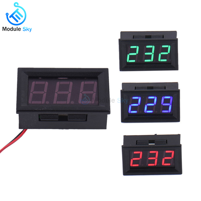 Integrated Circuits Electronic Components & Supplies High Quality Red Led Digital Display 2 Wire 0.56 Inch 3 Bit Led Digital Voltmeter Ac 70v-500v Voltage Meter For Home Application