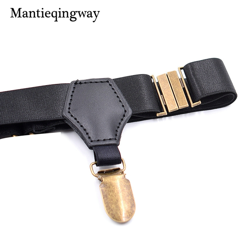 8f278eec90b Mantieqingway Mens Nylon Socks Stay Holder for Women Shirt Suspender Crease  Resistance Leg Socks Garters Adjustabel Belts-in Suspenders from Apparel ...